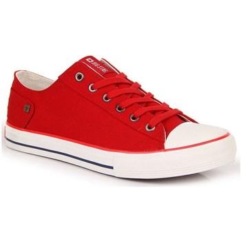 Sapatos Mulher Sapatilhas Big Star INT1092B Branco,Vermelho