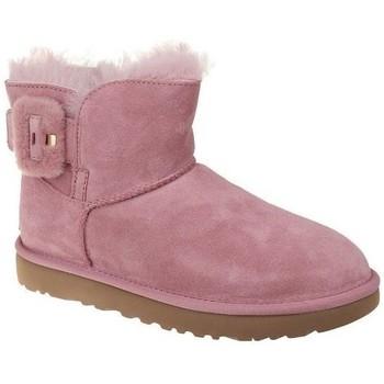 Sapatos Mulher Botas de neve UGG Mini Bailey Fluff Buckle Cor-de-rosa