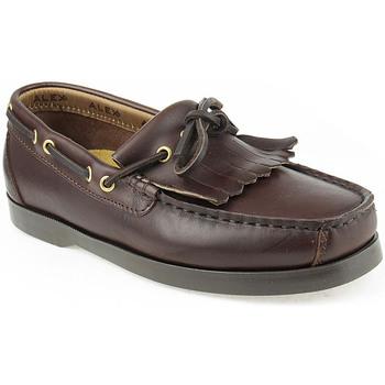 Sapatos Rapaz Sapato de vela Alex K Shoes Vellas Castanho