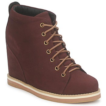 Sapatos Mulher Botas baixas No Name WISH DESERT BOOTS Bordô