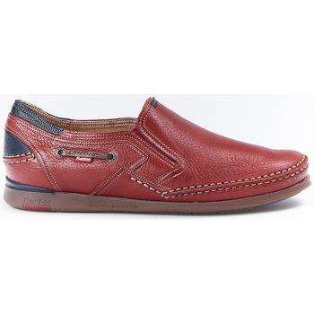 Sapatos Homem Mocassins Fluchos Zapatos  9883 Terracota Vermelho