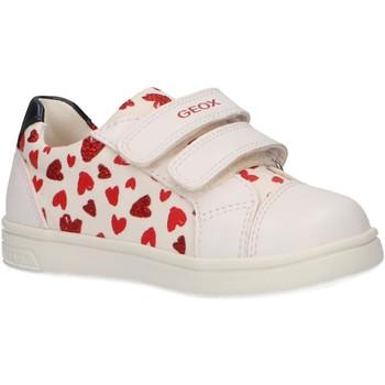 Sapatos Rapariga Sapatilhas Geox B921WE 0AW54 B DJROCK Blanco