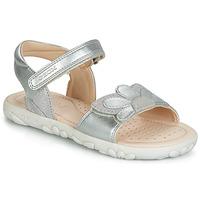 Sapatos Rapariga Sandálias Geox HAHITI Prata