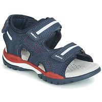 Sapatos Rapaz Sandálias Geox BOREALIS Azul / Vermelho