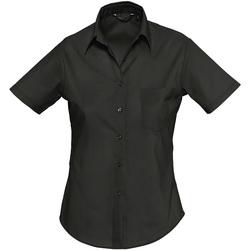Textil Mulher camisas Sols ESCAPE POPELIN WOMEN Negro