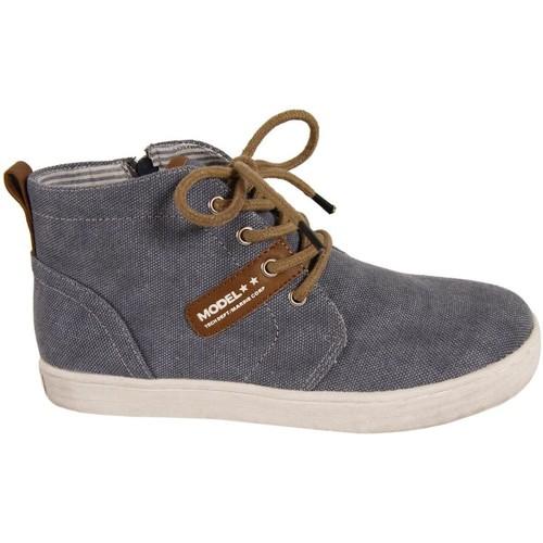 Sapatos Rapaz Sapatilhas de cano-alto New Teen 239243-B7079 Azul