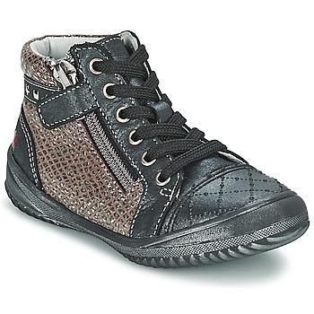 Sapatos Rapariga Botas baixas GBB LEONIA Cinza / Prateado