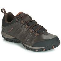 Sapatos Homem Multi-desportos Columbia WOODBURN II WATERPROOF Castanho
