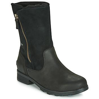 Sapatos Mulher Botas baixas Sorel EMELIE FOLDOVER Preto