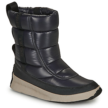 Sapatos Mulher Botas de neve Sorel OUT N ABOUT PUFFY MID Preto