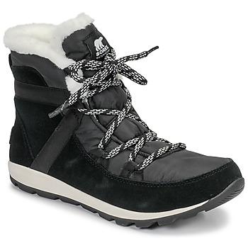 Sapatos Mulher Botas baixas Sorel WHITNEY FLURRY Preto
