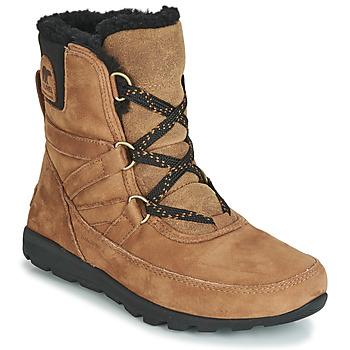 Sapatos Mulher Botas baixas Sorel WHITNEY SHORT LACE PREMIUM Camel
