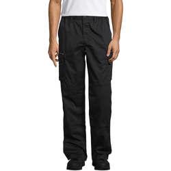Textil Calça com bolsos Sols ACTIVE PRO WORKS Negro