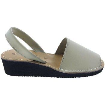 Sapatos Mulher Sandálias Huran Sandalias Menorquinas Cuña  552 Beige Beige