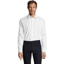 Textil Homem Camisas mangas comprida Sols BLAKE MODERN MEN Blanco