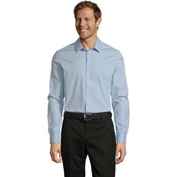 Textil Homem Camisas mangas comprida Sols BLAKE MODERN MEN Azul