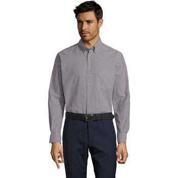 Textil Homem Camisas mangas comprida Sols BOSTON STYLE OXFORD Plata