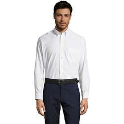 Textil Homem Camisas mangas comprida Sols BOSTON STYLE OXFORD Blanco