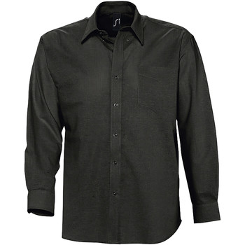 Textil Homem Camisas mangas comprida Sols BOSTON Negro