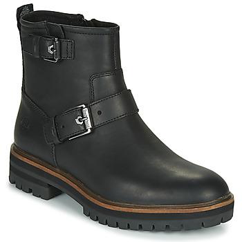 Sapatos Mulher Botas baixas Timberland LONDON SQUARE BIKER Preto