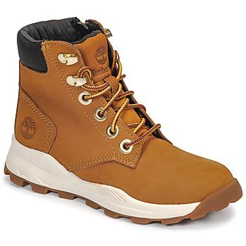 Sapatos Criança Sapatilhas de cano-alto Timberland BROOKLYN SNEAKER BOOT Castanho