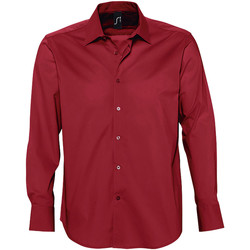 Textil Homem Camisas mangas comprida Sols BRIGHTON STRECH Rojo
