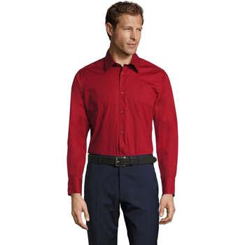 Textil Homem Camisas mangas comprida Sols BRIGHTON Rojo