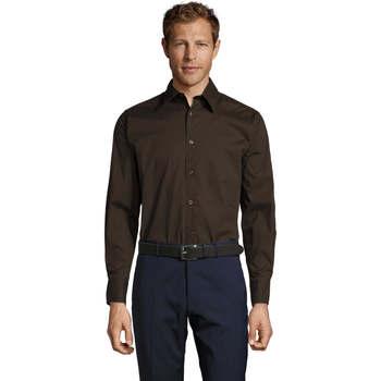 Textil Homem Camisas mangas comprida Sols BRIGHTON STRECH Marrón