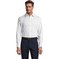 Textil Homem Camisas mangas comprida Sols BRIGHTON STRECH Blanco