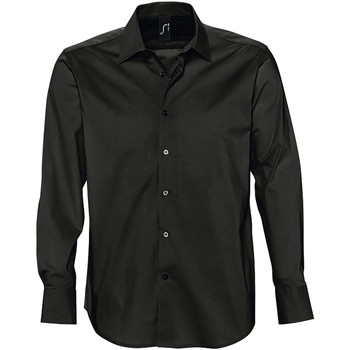 Textil Homem Camisas mangas comprida Sols BRIGHTON STRECH Negro