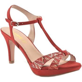 Sapatos Mulher Escarpim Mayfran Calzados Sandalia de vestir de mujer by Annora Rojo