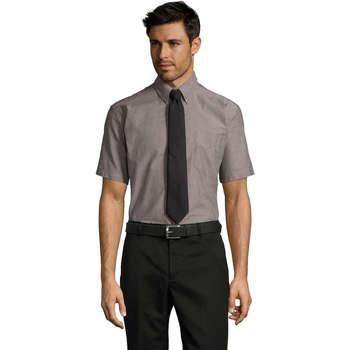 Textil Homem Camisas mangas curtas Sols BRISBANE Plata