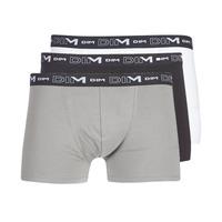Roupa de interior Homem Boxer DIM COTON STRETCH X3 Preto / Cinza / Branco