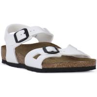 Sapatos Rapaz Sandálias Birkenstock RIO WHITE Bianco