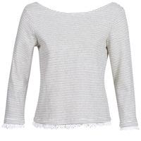 Textil Mulher T-shirt mangas compridas Betty London KARA Branco / Marinho