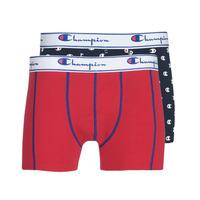 Roupa de interior Homem Boxer Champion MIX UNI + IMPRIME X2 Preto / Vermelho
