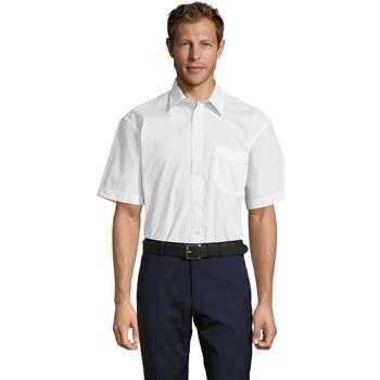 Textil Homem Camisas mangas curtas Sols BRISTOL MODERN WORK Blanco