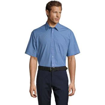 Textil Homem Camisas mangas curtas Sols BRISTOL Azul