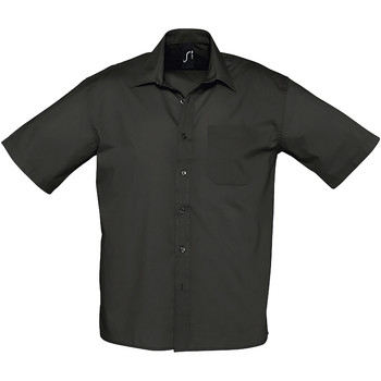 Textil Homem Camisas mangas curtas Sols BRISTOL Negro
