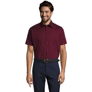 Textil Homem Camisas mangas curtas Sols BROADWAY STRECH MODERN Violeta
