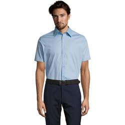 Textil Homem Camisas mangas curtas Sols BROADWAY STRECH MODERN Azul
