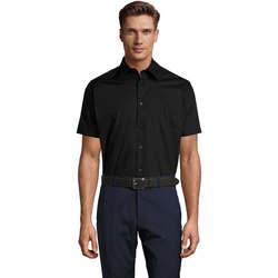 Textil Homem Camisas mangas curtas Sols BROADWAY STRECH MODERN Negro