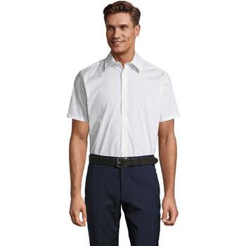 Textil Homem Camisas mangas curtas Sols BROADWAY STRECH MODERN Blanco