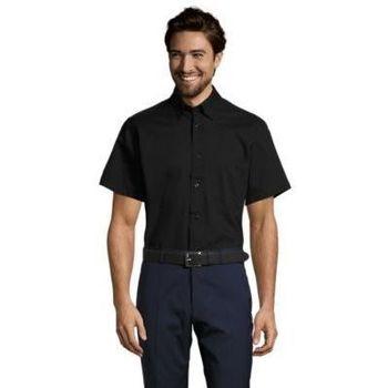 Textil Homem Camisas mangas curtas Sols BROOKLYN Negro