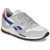 Sapatos Sapatilhas Reebok Classic CL LEATHER MU Cinza / Azul