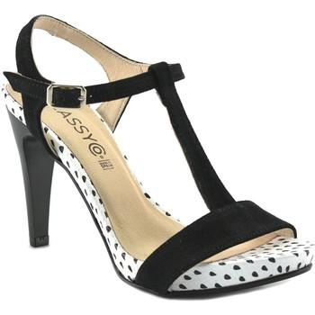 Sapatos Mulher Sandálias Cbp - Conbuenpie Sandalia de vestir de mujer by Annora Negro
