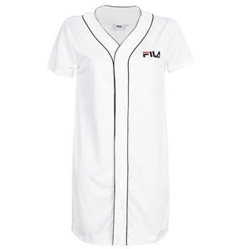 Textil Mulher Vestidos curtos Fila WOMEN ROBIN button baseball dr Branco