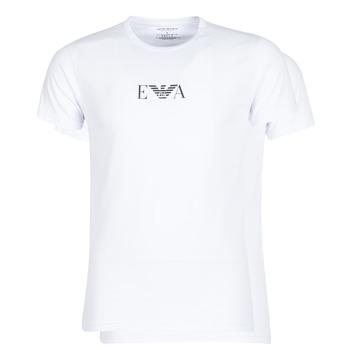 Textil Homem T-Shirt mangas curtas Emporio Armani CC715-111267-04712 Branco