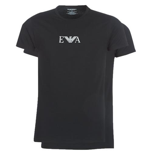Textil Homem T-Shirt mangas curtas Emporio Armani CC715-111267-07320 Preto