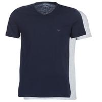 Textil Homem T-Shirt mangas curtas Emporio Armani CC722-111648-15935 Marinho / Cinza